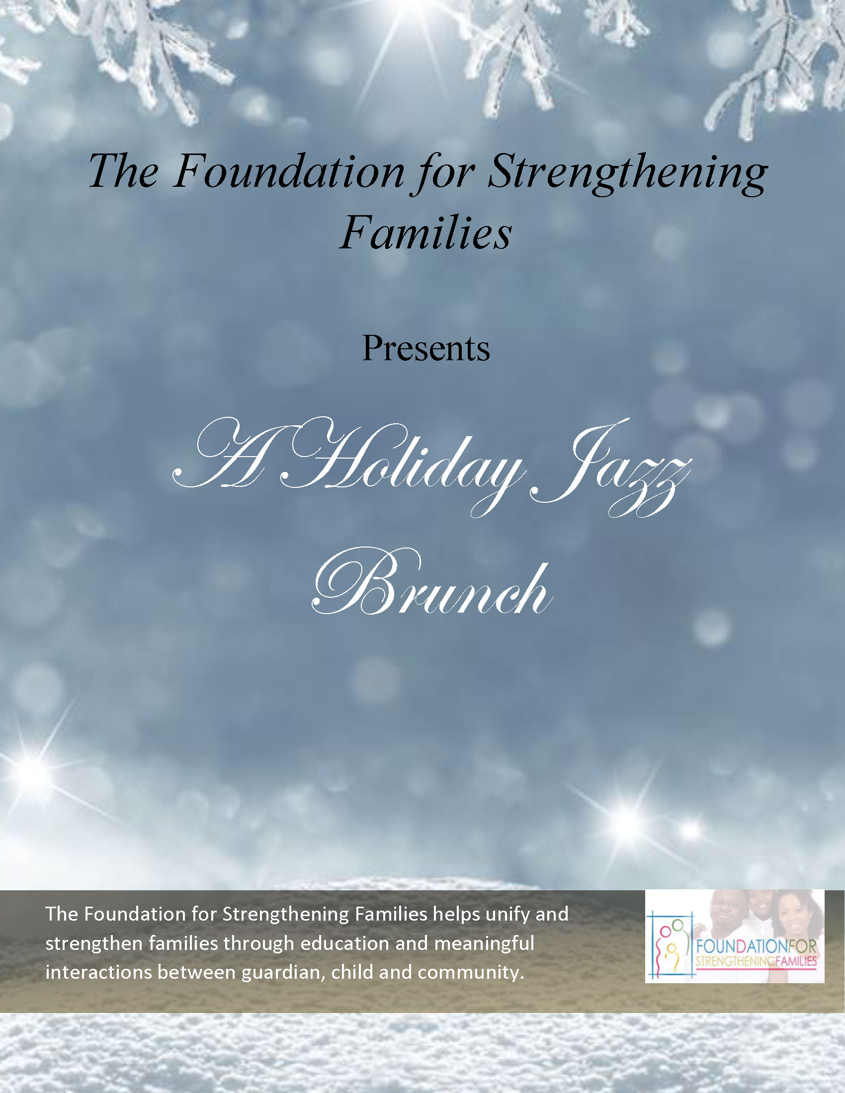 Foundation For Strengthening Families Early Childhood Education, Single Parent Help, Community Resource, Daycare in St. Louis Holiday Brunch